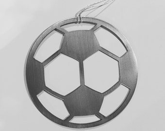 Soccer Ball Ornament- steel