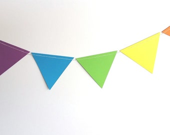Rainbow triangles garland/banner/bunting/birthday party