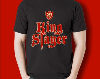 King Slayer T-shirt | inspired by the books and TV show | great for board game geeks, strategy tabletop and RPG gamers | Geeky Goodies