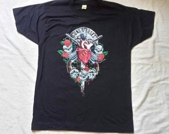 Dead Stock Vintage Guns N Roses 1990 Concert T Shirt Rare Screen Stars