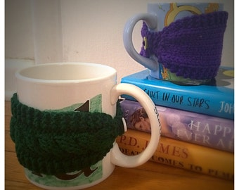 Knitted Mug Cozy, Knitted Coffee Cozy, Knitted Tea Cozy