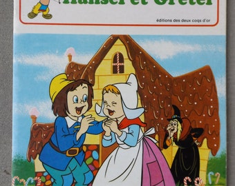 "WALT DISNEY book 1975 french / ""Hansel and Gretel"" by Walt Disney / Walt Disney Collection / color Illustrations"