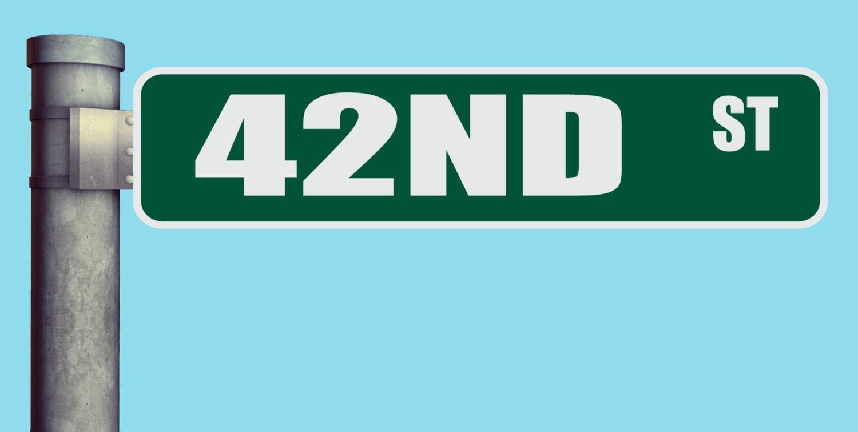 42nd ST Street Sign Heavy Duty Aluminum Warning Parking Sign