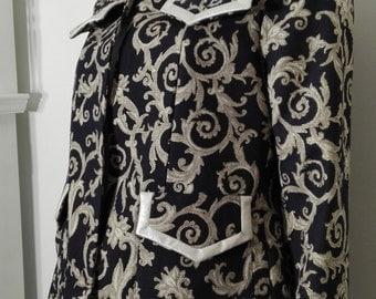 New, trendy,baroque pattern,golden glow,woman blazer,coat,jacket,casual or street stile