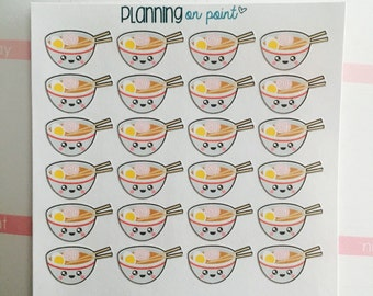 Kawaii Ramen Pho Noodles Planner Stickers!