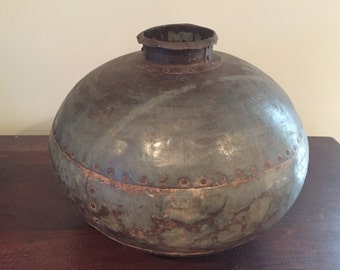 Vintage Iron Indian Water Pot