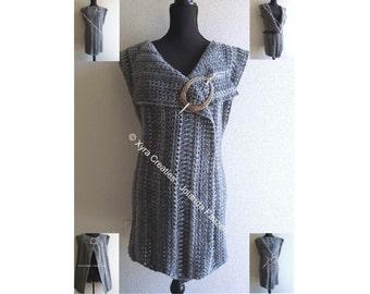 PATR1083 - Xyra Crochet-pattern - Vest / gilet - different ways to wear - (English-US & Dutch)