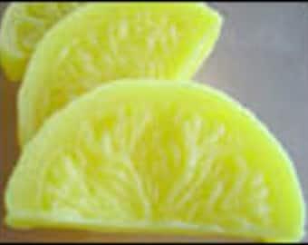 Geltyme - Lemon Slices - Wax Fake Foods /  Candle Embeds set of 10
