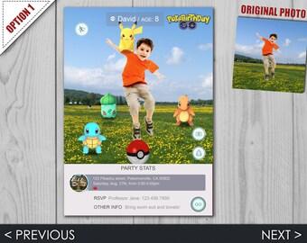 Pokemon GO Invitation - Pokemon GO Birthday Party - Pokemon Invite - Fully Customizable Digital File