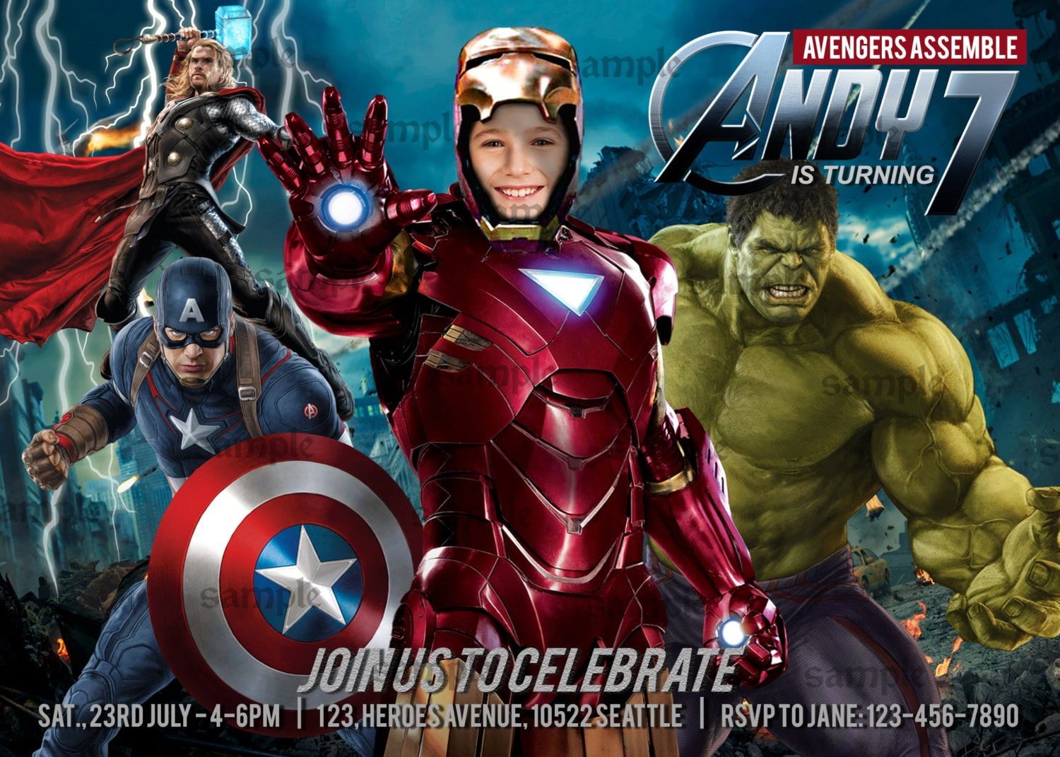 Thor Birthday Invitations Choice Image - Invitation Templates Free ...