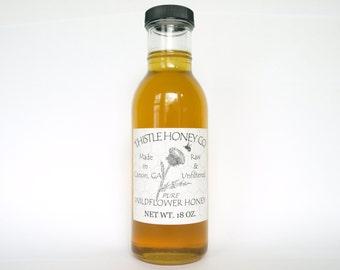 Raw Honey - 18oz - Georgia Wildflower - Spring Harvest