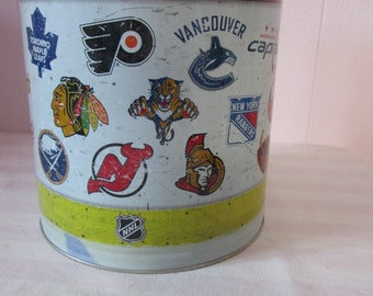 Vintage National Hockey League box / Box metal National Hockey League