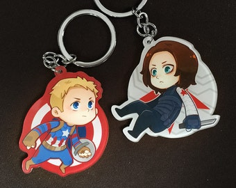 Stucky / Winter Soldier / Captain America / Steve Rogers / Bucky Barnes / Avengers / keychains