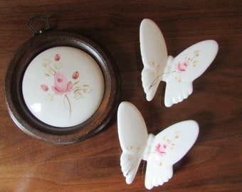 Butterfly porcelain Vintage Homco