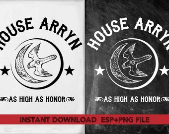 House Arryn As high as honor clipart ,T shirt, iron on , sticker, Vectors files ,Personal Use