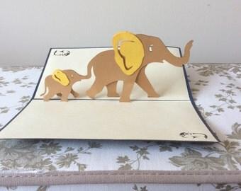 ELEPHANTS Pop Up Card