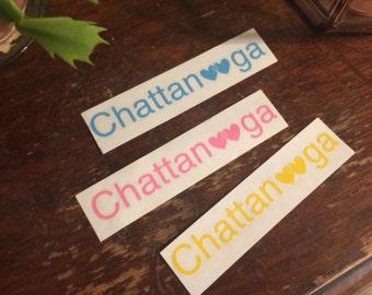 Chattanooga heart vinyl sticker