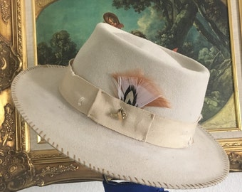 Women's One-of-a-Kind Custom Summer Jet-Setter Fedora.