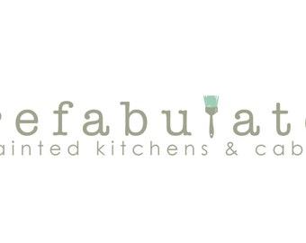 Pre-made Logo Design - Paint Brush Logo - Painter Logo - Interior Designer Logo - Refurbished Furniture Logo - Boutique Logo - Painting Logo