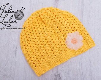 Summer panama hat for a newborn