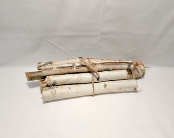 Rustic Birch Logs - Rustic Decor - Rustic Wedding - Woodland - Rustic Home Decor - Decorative Branches - Birch Logs - Log Centerpiece