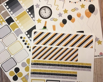 New Year  full weekly set. Perfect for the Erin Condren Planner!!!!