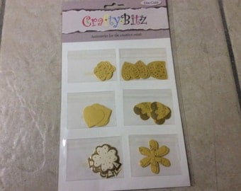 Crafty Bitz pk DC056 ,hearts,stars etc Card toppers,craft ,