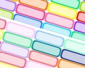 Rainbow Quarter Boxes - Planner Stickers (SKU055)