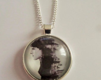 Merlin inspired glass photo cabochon necklace bbc tv show camelot colin morgan king arthur medieval