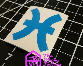 Pisces zodiac sign vinyl decal sticker