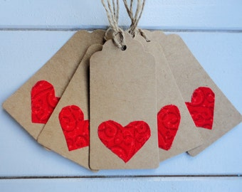 Valentine Gift Tags - heart gift tags - wedding gift tags - wedding favours - gift tags - birthday gift tags - anniversary gift tags
