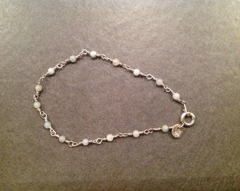 Beautiful delicate amazonite bracelet