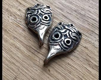 Viking/Rus raven faced clothing hooks