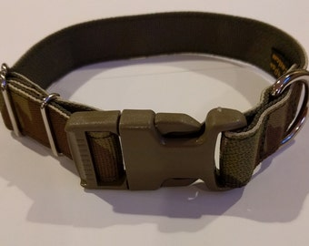 "Custom 1"" Military Spec Multicam Camo Dog Collar with Nylon Mil Spec Webbing 4Paws"