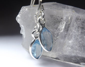 Natural Topaz Silver Earrings