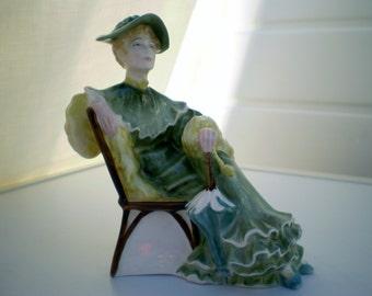 Royal Doulton China Figurine - 'Ascot' - HN2356 - P Davies - 1968-1995 - Green Colourway - England .
