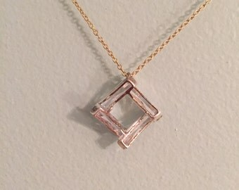 Glass Square Short Gold