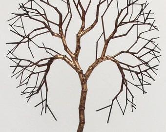 metal tree sculpture