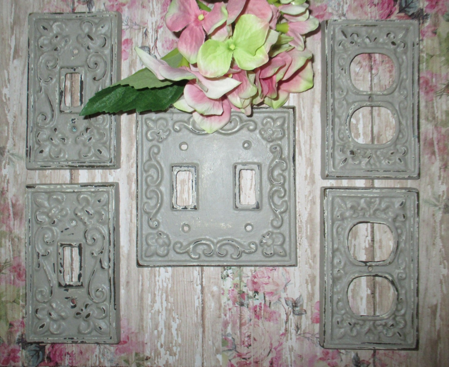 Cast Iron Light Switch Plate Cover Shabby Chic Home Decor