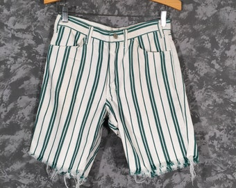 1960's High Waisted Striped Shorts