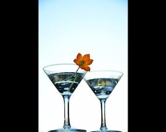 Martini Glasses 1 note card