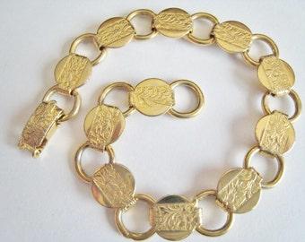 Vintage Gold Tone Sarah Coventry Bracelet