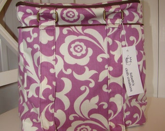Purple Flower Power Insulate Tote