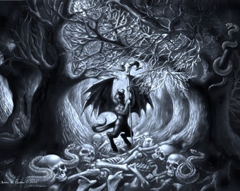 """Poster Print- """"Lord of the Path"""": 18 x 24 in. poster print, original painting by Andrew  Gardner"""