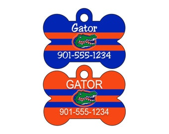 Florida Gators Personalized Dog Tag Pet Id Tag w/ Name & Number