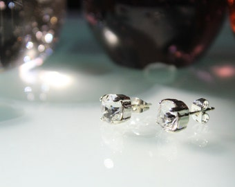 Crystal clear swarovski stud earrings
