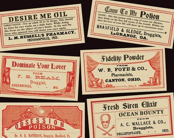 Love Potion Labels Digital Download