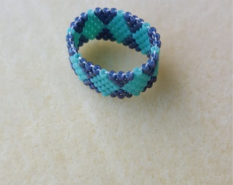 Diamond Seed Bead Ring