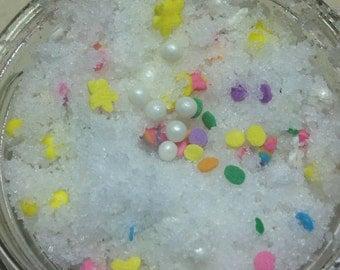Vanilla birthday cake sugar and salt scrub - 3 oz