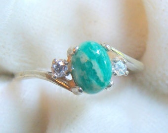 Beautiful Amazonite Ring in Sterling Silver